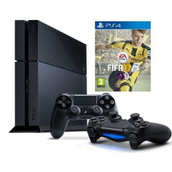 Sony PS4 - 1 TB Black (2 Controllers + FIFA 17)